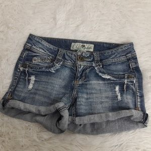 Jolt SZ 3 Juniors Denim Jean Shortie Shorts CUTE